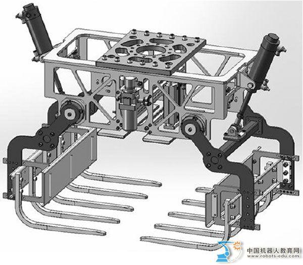 工业机器人码垛手爪的结构设计